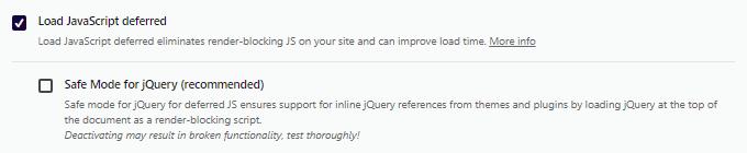 Load JavaScript Deferred