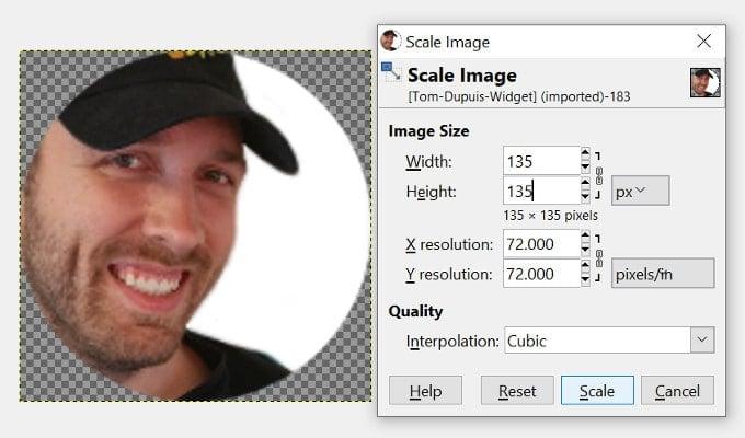 Scaling Image GIMP
