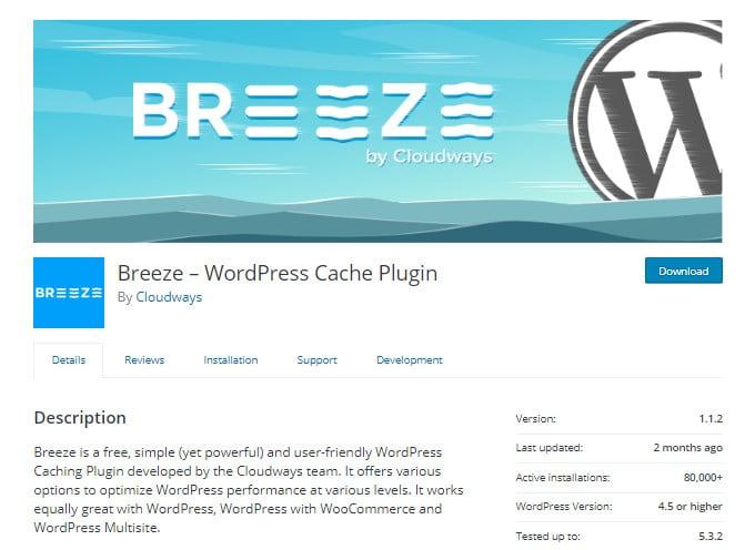 Breeze-Cache-Plugin