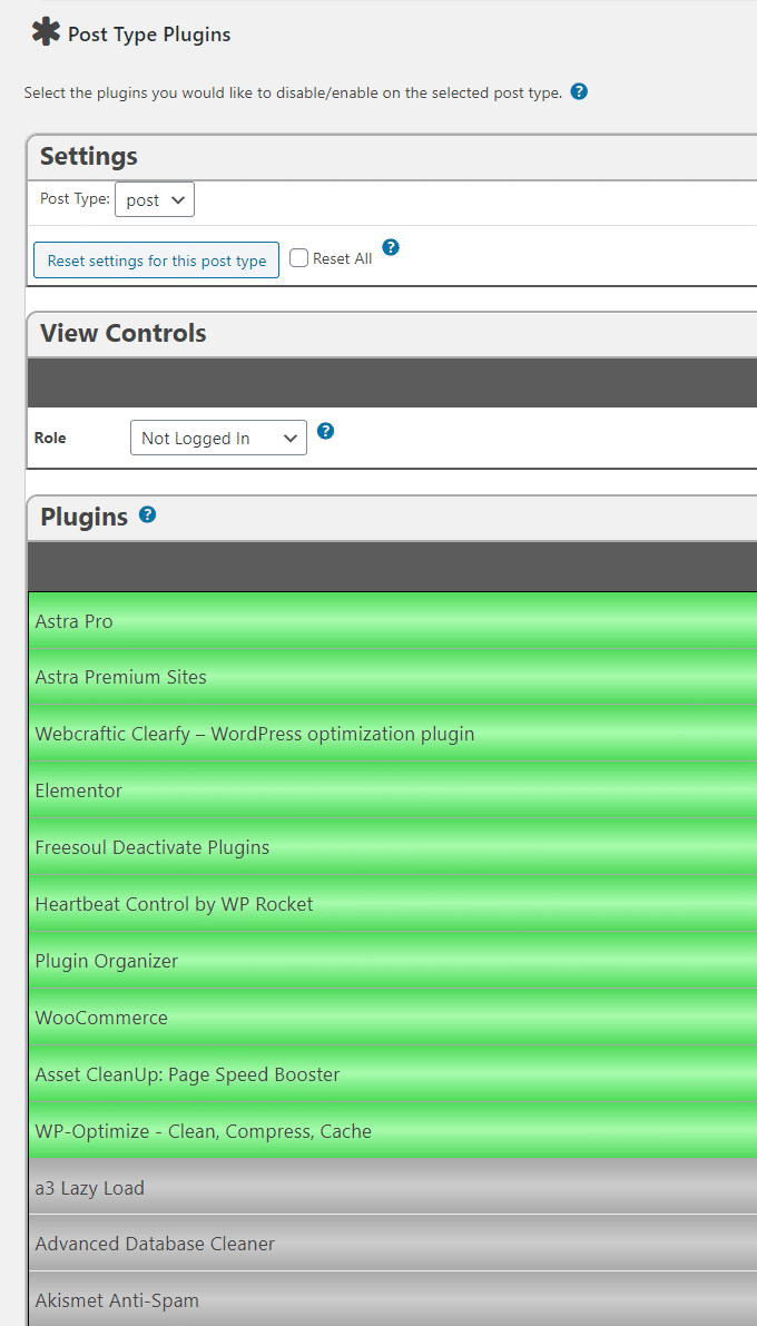 Plugin Organizer Post Type Plugins