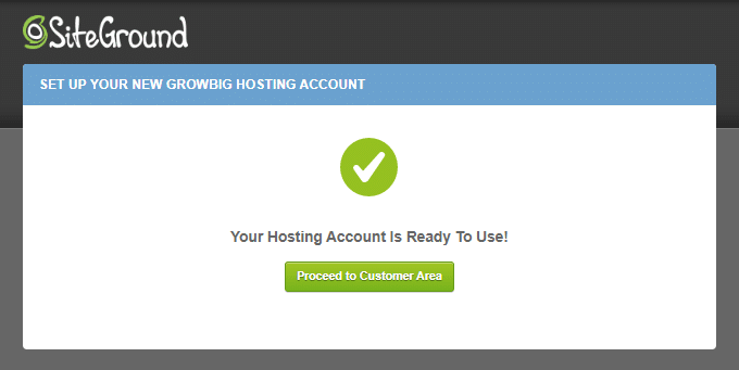 SiteGround Hosting Ready To Use