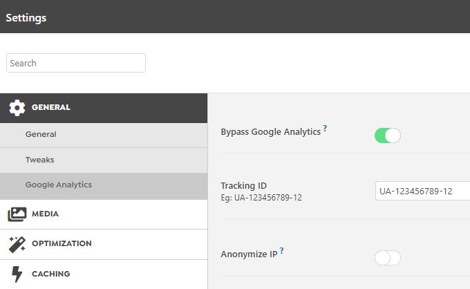 Swift Performance Bypass Google Analytics