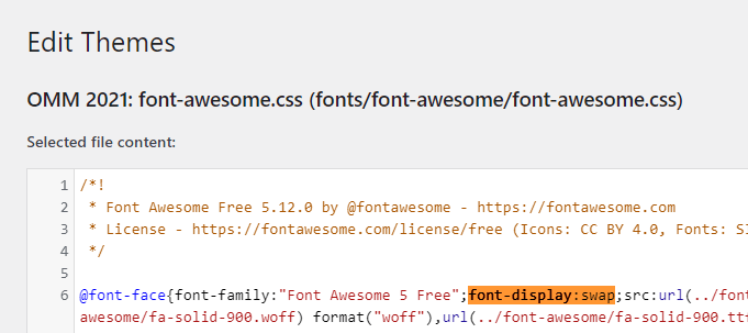 font-display swap