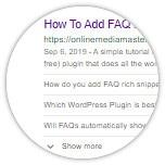 FAQ Rich Snippets 2