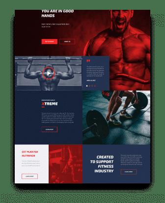 Personal trainer web design Home