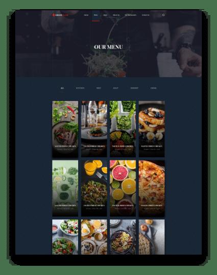 Restaurant Web Menu
