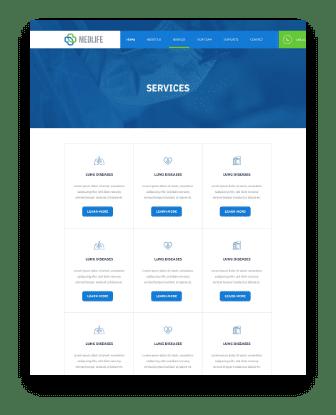 medical web design service