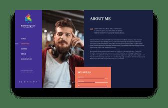 web design artist page