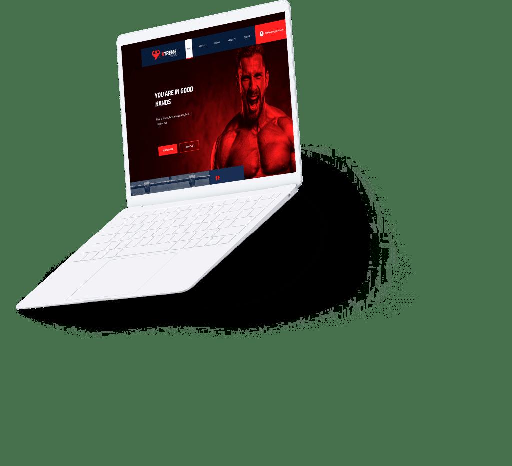 web design personal trainer mockup 2
