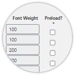 Font Optimization