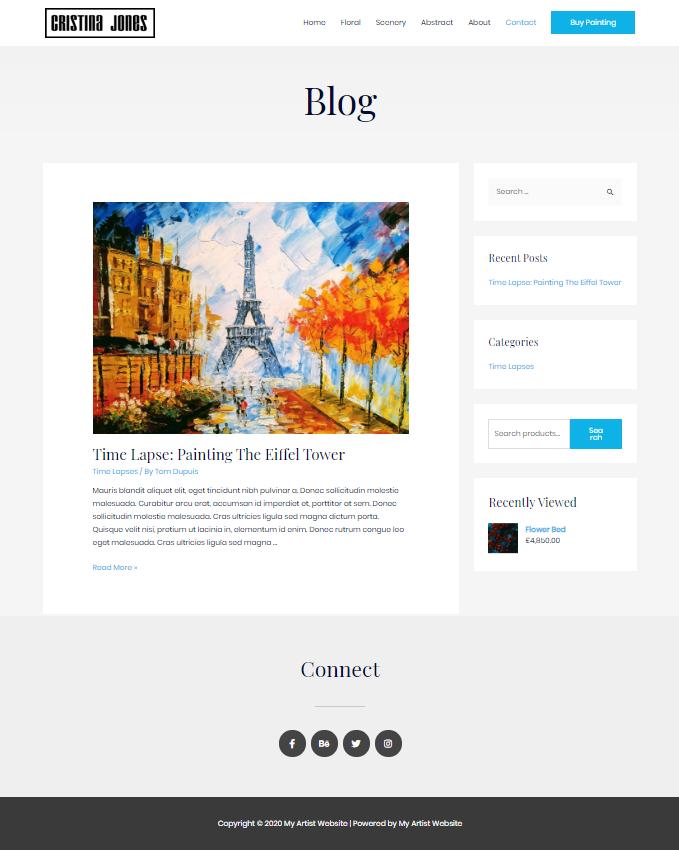 Artist-Blog-Page