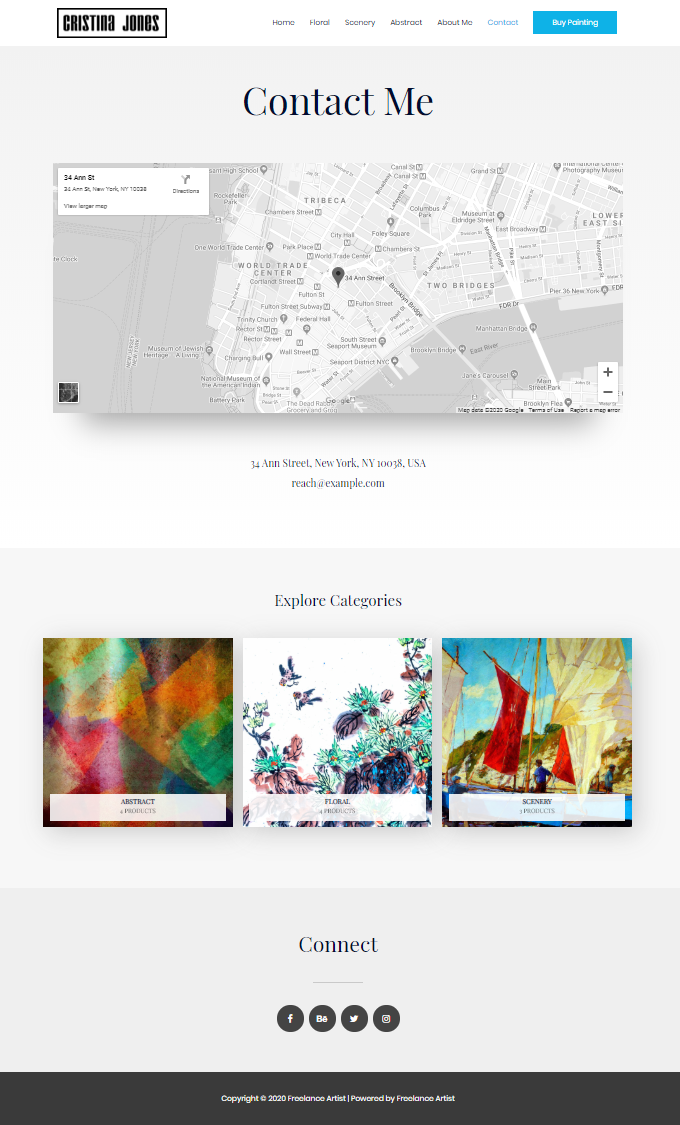 Artist-Contact-Page