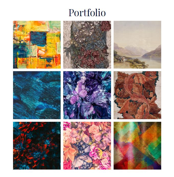 Artist-Portfolio-Page