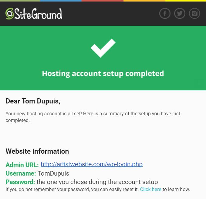 Artist-Website-Account-Setup