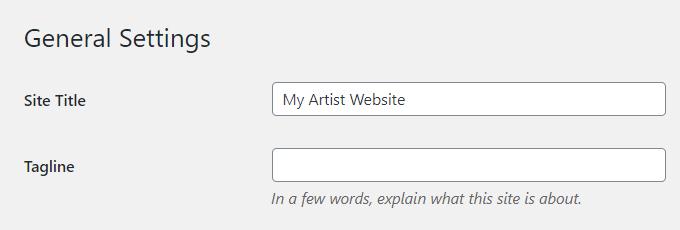 Artist-WordPress-Title