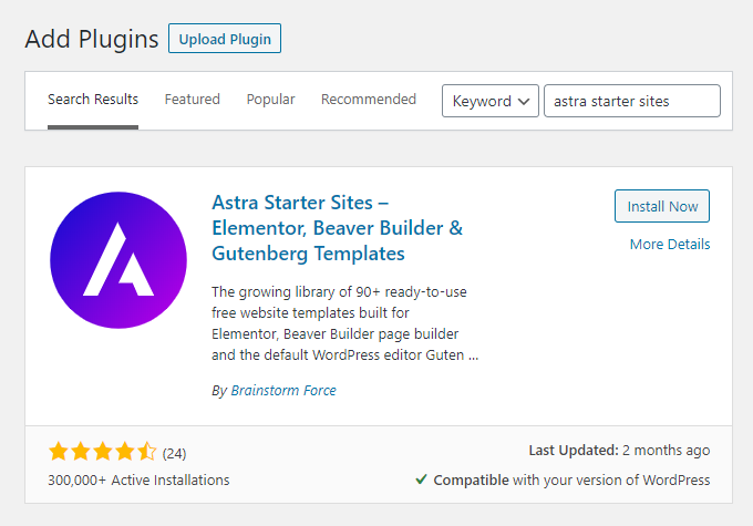 Astra-Starter-Sites-Search