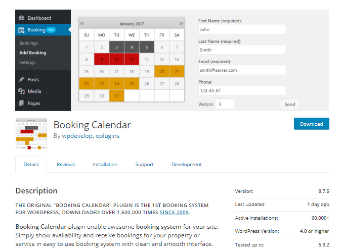Booking-Calendar-Plugin