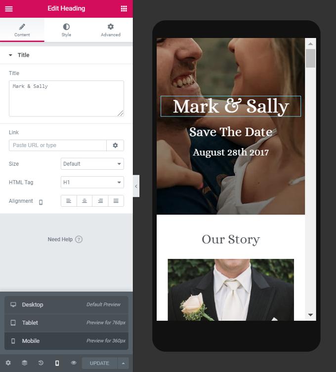 Customize-Mobile-Wedding-Site