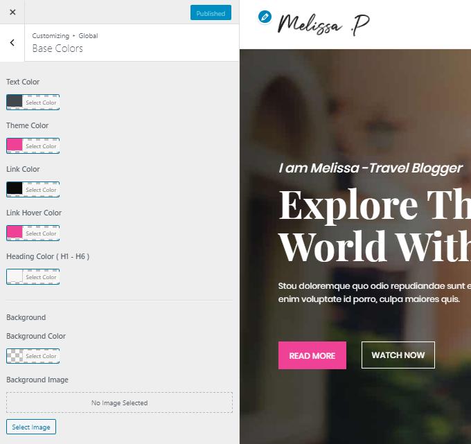 Customize-Travel-Blog-Colors