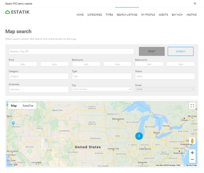 Estatik-Map-Search