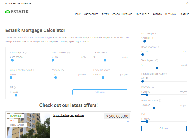 Estatik-Mortgage-Calculator