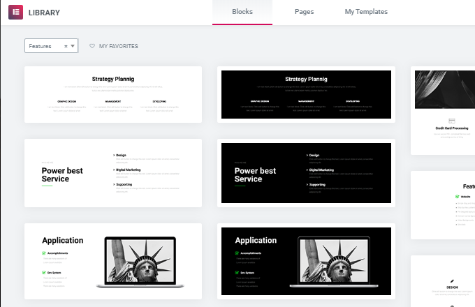 Features-Elementor-Templates
