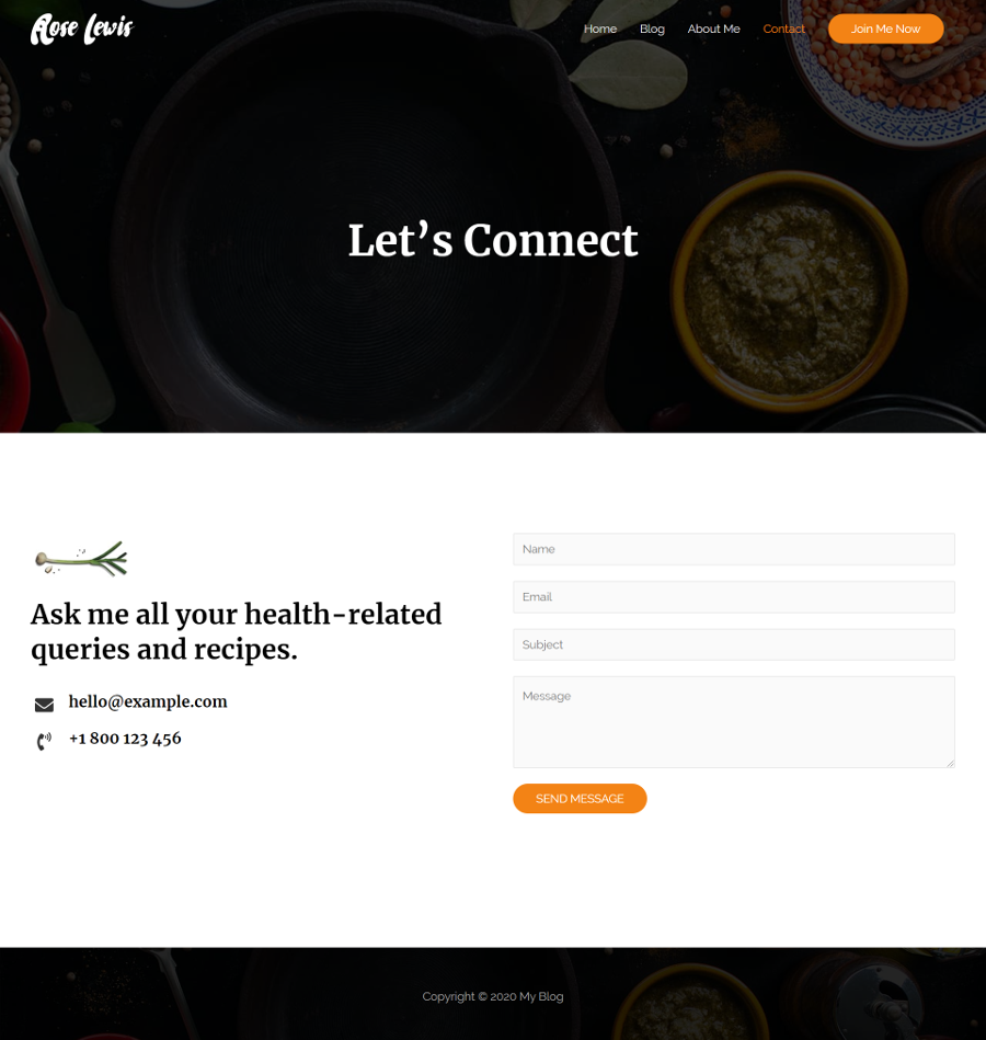 Food-Blog-Contact-Page