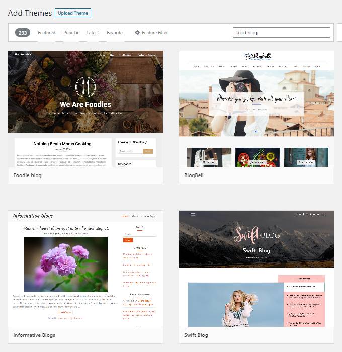 Free-Food-Blog-Themes