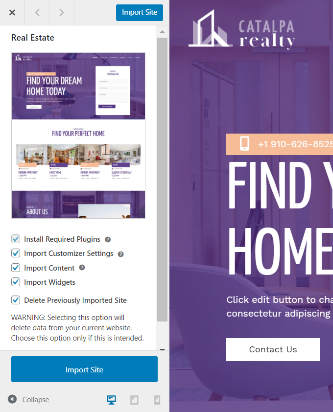 Import-Real-Estate-Theme