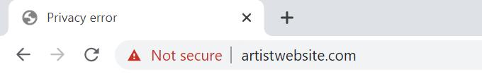 Insecure-Artist-Website