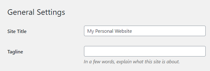 Personal-WordPress-Title