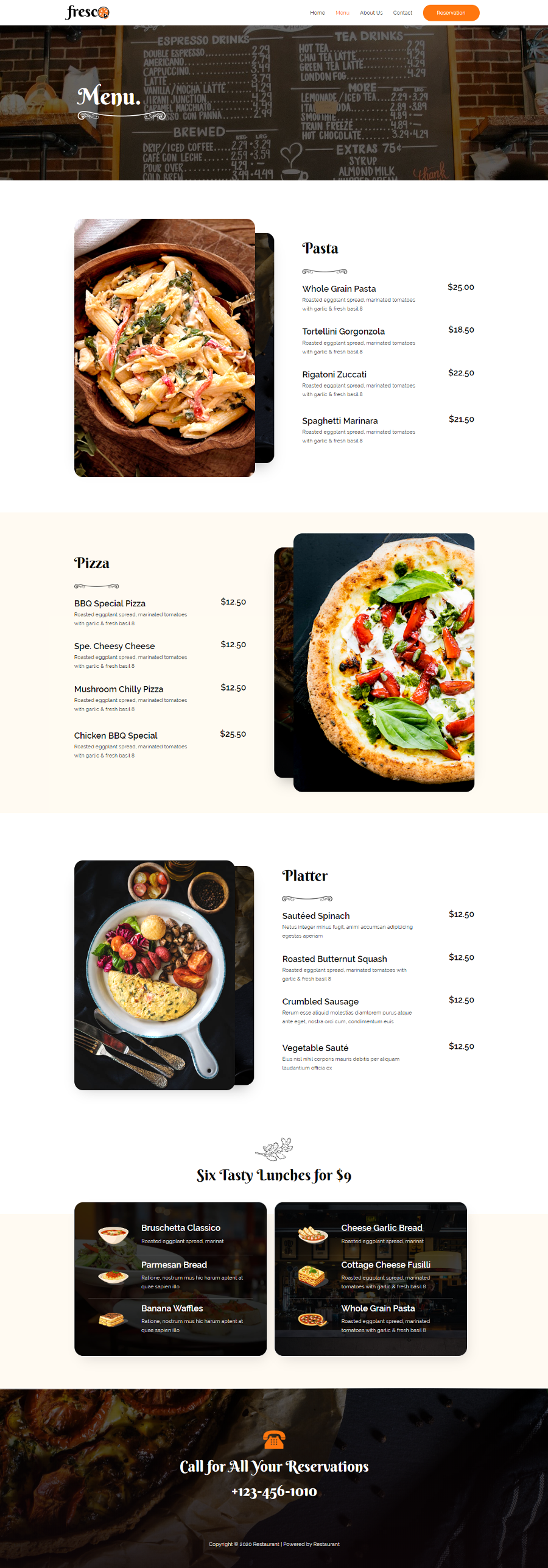 Restaurant-Website-Menu