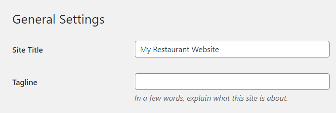 Restaurant-WordPress-Title