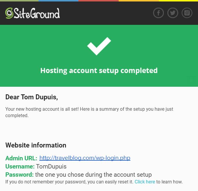 Travel-Blog-Account-Setup