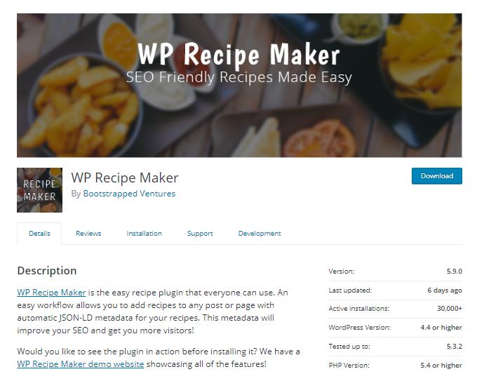 WP-Recipe-Maker-Plugin