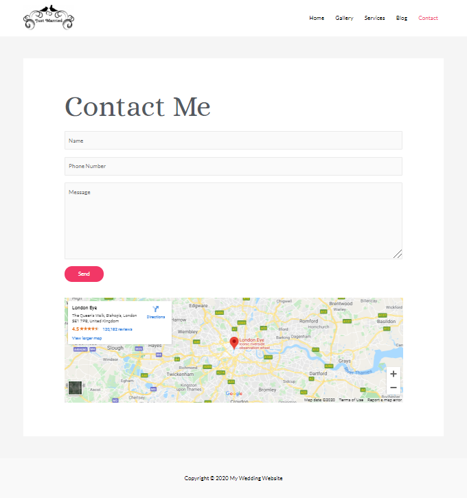 Wedding-Contact-Page