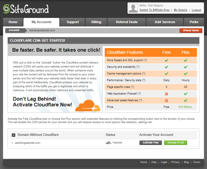 Wedding-Website-Cloudflare-Activation