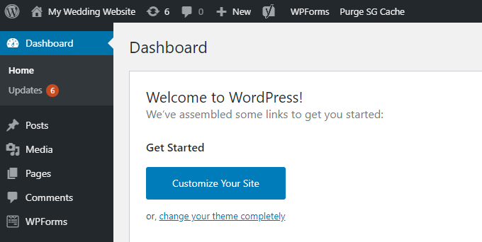 Wedding-WordPress-Dashboard