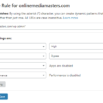 WordPress Admin Page Rule