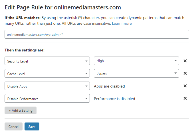 WordPress-Admin-Page-Rule