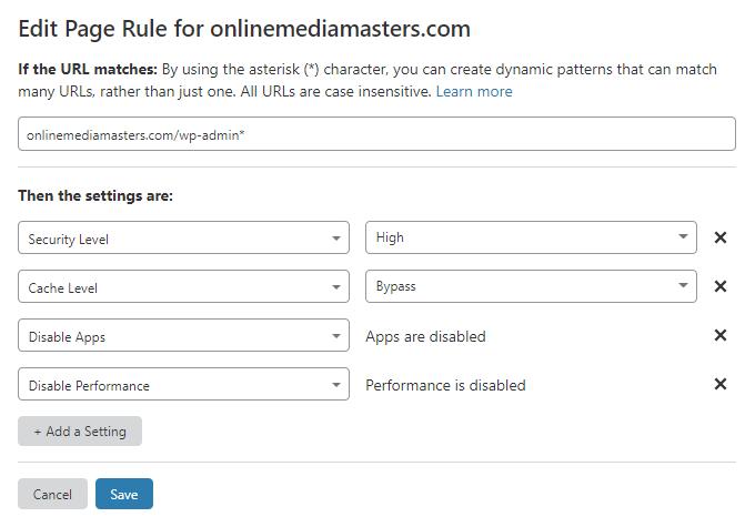 WordPress-Admin-Page-Rule