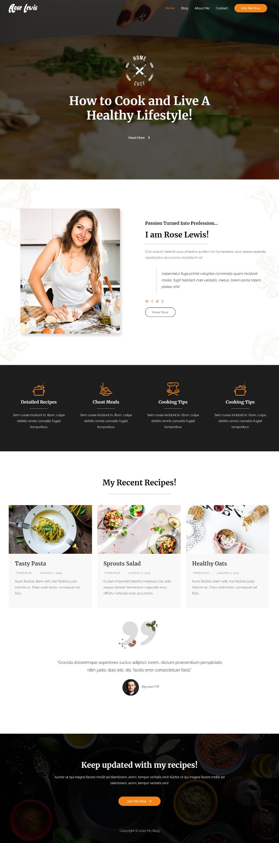 Food-Blog=Homepage