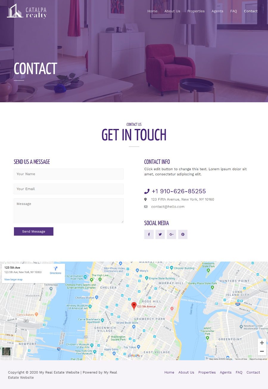 Real-Estate-Contact-Page