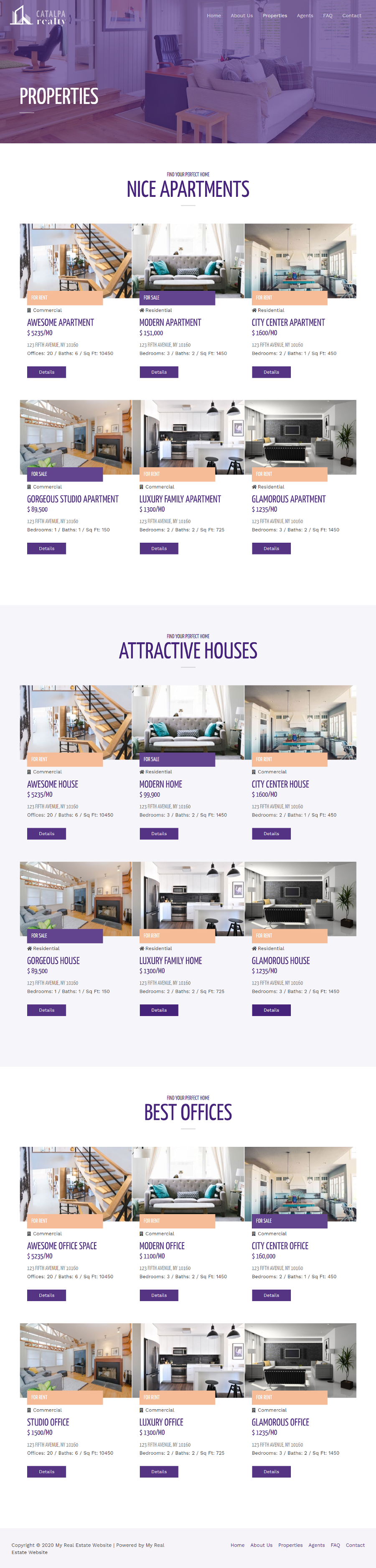 Real-Estate-Properties-Page