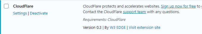 Cloudflare Extension