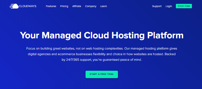 Cloudways-Homepage