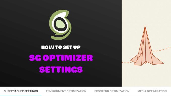 SG Optimizer Settings