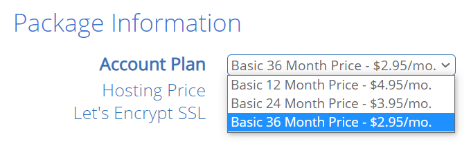 Bluehost Pricing 1