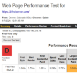 Bluehost WebPageTest 1