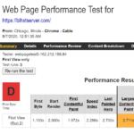 Bluehost WebPageTest